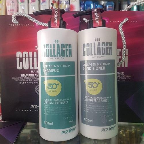 Cặp gội xả collagen pro-ferm