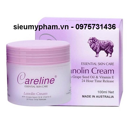 Kem dưỡng da nhau thai cừu Careline Lanolin Cream Úc
