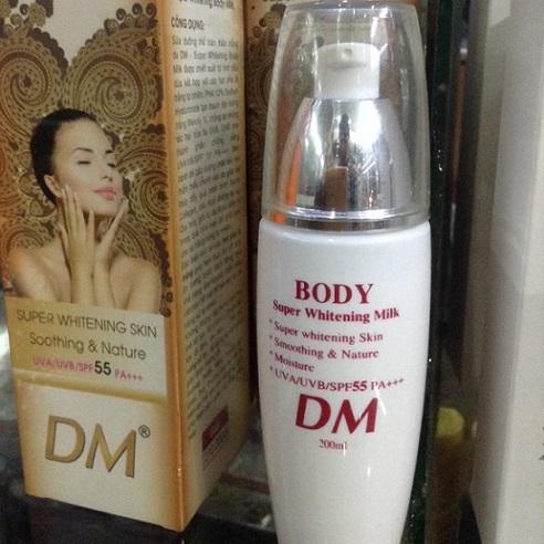 Kem dưỡng  trắng toàn thân DM