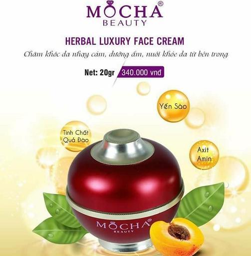 Kem dưỡng cao cấp Herbal Luxury Face Cream Mocha
