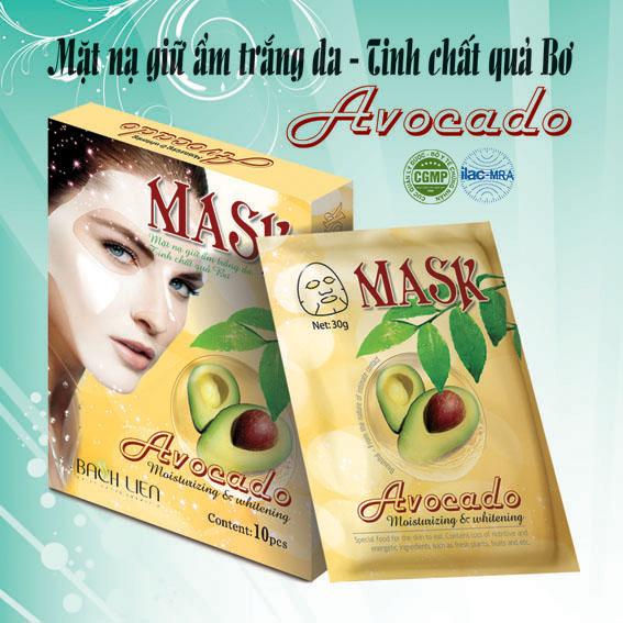 Mặt nạ dưỡng trắng giữ ẩm Avocado