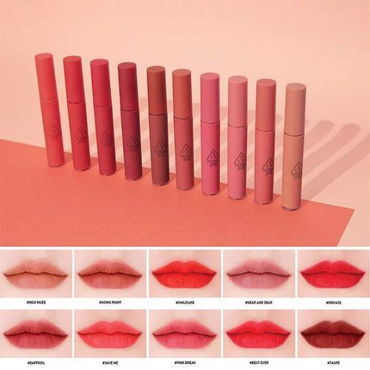 Son kem 3Ce Velvet Lip Tint