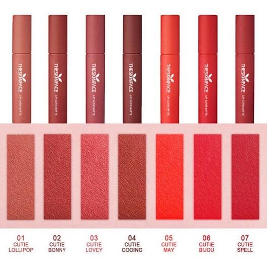 Son Kem Lì The Skin Face Lip Cutie Matte Hàn Quốc