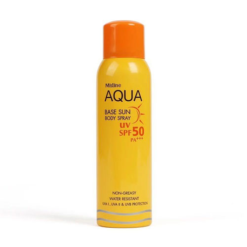 Xịt Aqua Base Sun Body Spray Mistine UV Spf 50